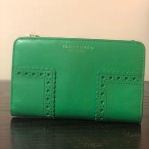 Tory Burch green wallet